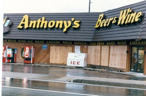 raining at Anthony's Beer, Wine, Liquor, Bar & Deli Ocean City MD
