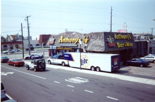 Miller lite beer truck at Anthony's beer wine liquor Ocean City MD