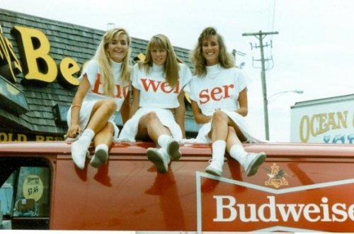 budweiser girls at Anthony's beer wine liquor Ocean City MD